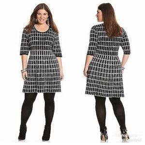 🆕Lane Bryant Windowpane Sweater Dress